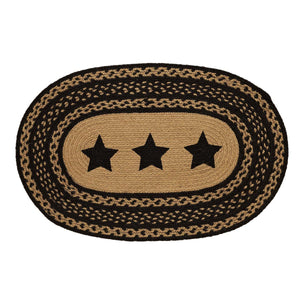 Farmhouse Jute Stars Stenciled Rug
