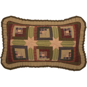 Tea Cabin-Sham King Quilted Ruffled-Especially For You Home Décor