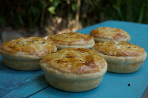 Award winning New Zealand style  flakey pastry pies - packed with flavour