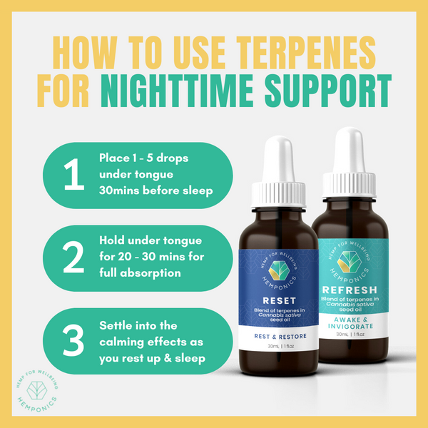 how to use terpenes for nighttime support