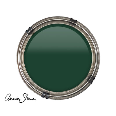 dark green  chalk paint from annie sloan