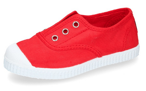 Red Easy Sneakers with rubber outsole