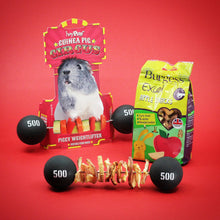 Load image into Gallery viewer, BUNDLE OFFER 1: HayPigs!® Piggy Weightlifter™ + Burgess Apple Snacks 80g