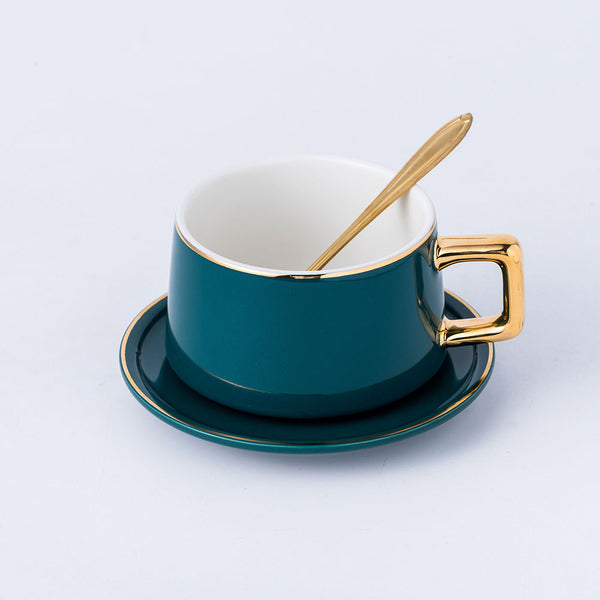 Porcelain Tea Cup, Saucer & Spoon
