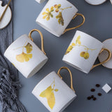 Set of 4 Porcelain Mugs