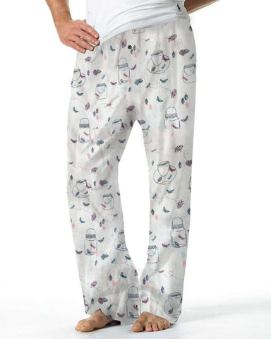 Abstract White Lounge Pants