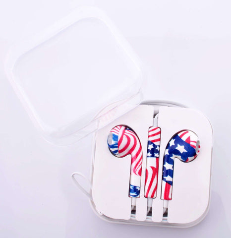American Flag Earphones
