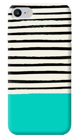 Aqua Stripes Apple iPhone 6/6S Case