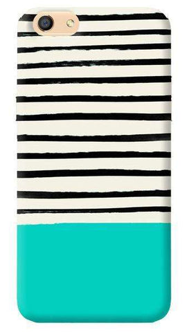 Aqua Stripes Oppo F3 Case