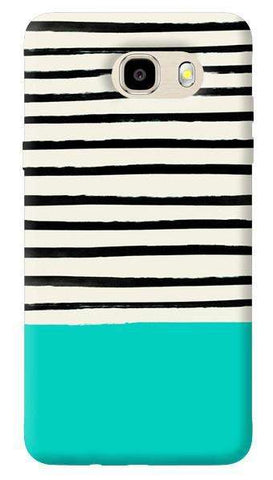 Aqua Stripes Samsung Galaxy J7 Case