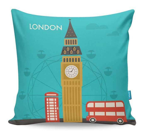 Attractions Of London Cushion Cover