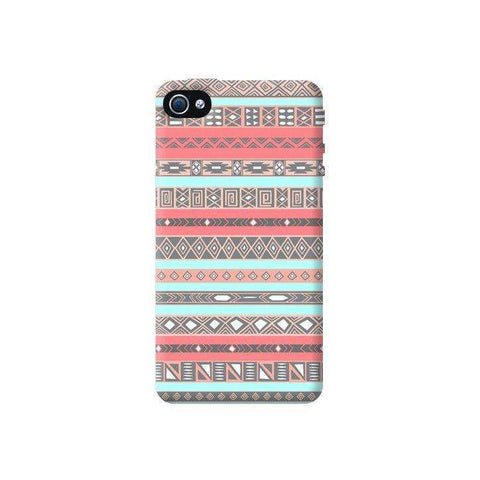 Baby Blue Aztec Apple iPhone 4/4S Case