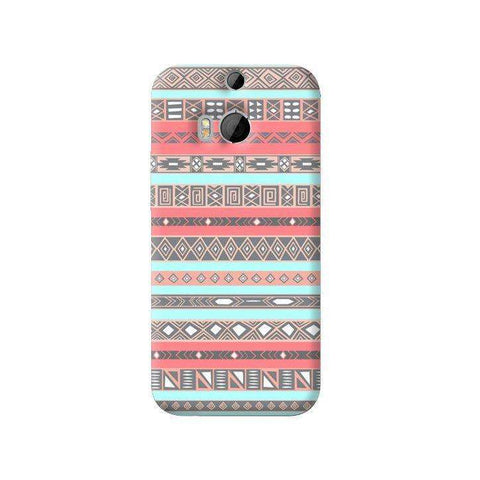Baby Blue Aztec HTC One M8 Case