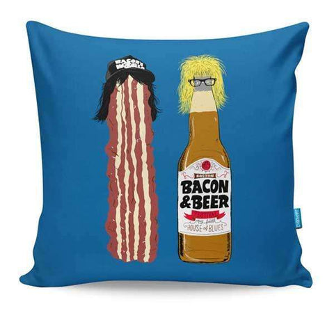 Bacon & Beer Cushion Cover