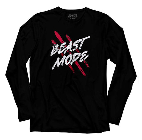Beast Mode Full Sleeves T-Shirt