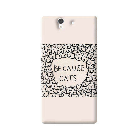 Because Cats Sony Xperia Z Case
