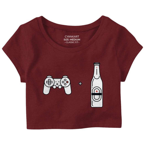 Beer And Gaming Crop Top
