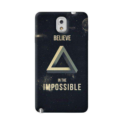 Believe In The Impossible Samsung Galaxy Note 3 Case