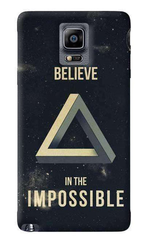 Believe In The Impossible Samsung Galaxy Note 4 Case