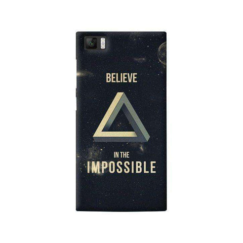Believe In The Impossible Xiaomi Mi3 Case