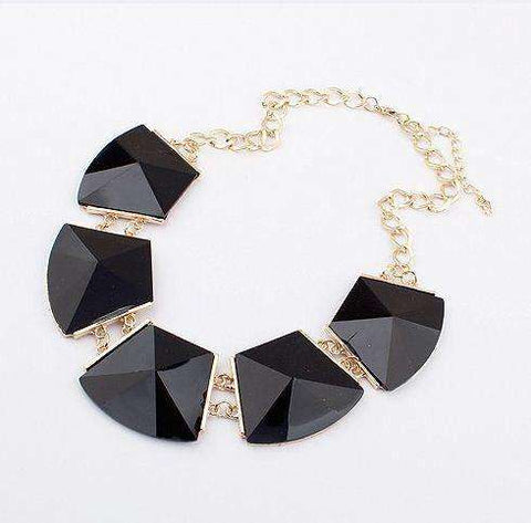 Bib Collar Resin Geometry Necklace