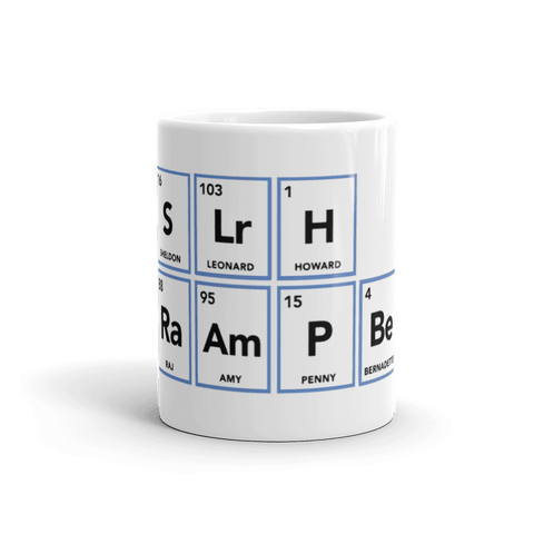 Big Periodic Table Coffee Mug