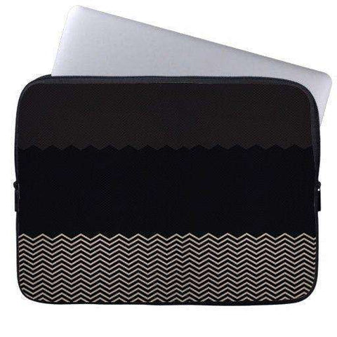 Black Grey Chevron Laptop Sleeve