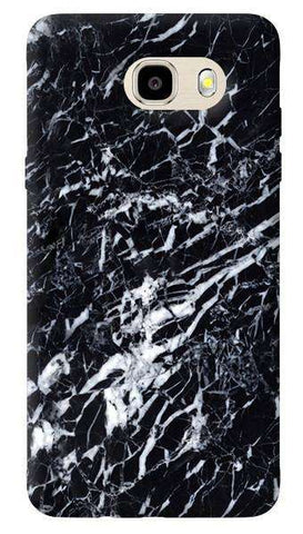 Black Marble Samsung Galaxy J7 Case