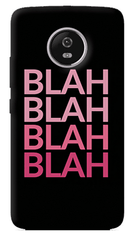 Blah Blah Motorola Moto G5 Plus Case