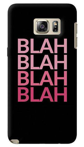 Blah Samsung Galaxy Note 5 Case