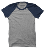 Blue and Grey Half Sleeves Raglan T-Shirt