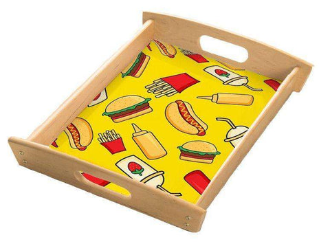 Burger & Fries Serving Tray