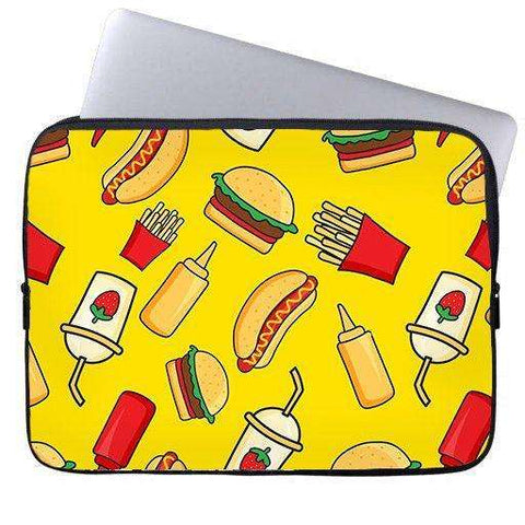 Burger and Fries Laptop Sleeve