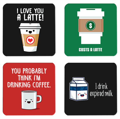 Cafe Latte Coasters