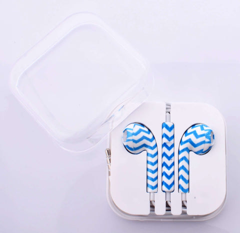 Chevron Blue  Earphones