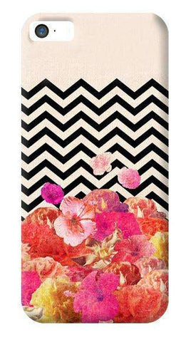 Chevron Floral Apple iPhone 5/5S Case