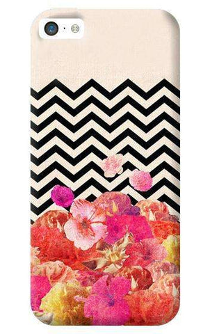 Chevron Floral Apple iPhone 5C Case