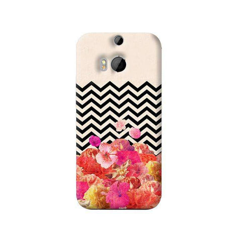 Chevron Floral HTC One M8 Case
