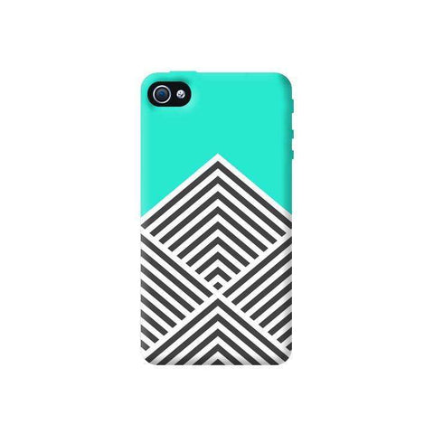Chevron Mint Apple iPhone 4/4S Case