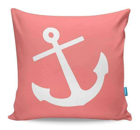 Coral Anchor Cushion Cover