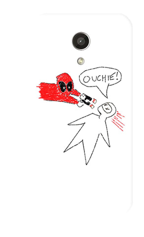 Deadpool Doodle   Motorola Moto G 2nd Gen Case