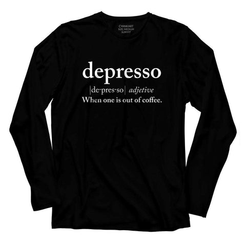 Depresso Full Sleeves T-Shirt
