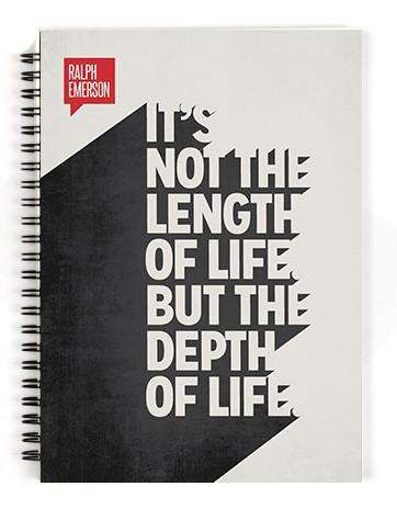 Depth Of Life Spiral Notebook