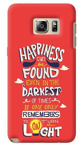 Dumbledore On Happiness  Samsung Galaxy Note 5 Case