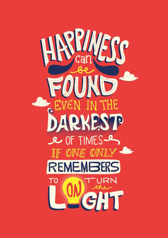 Dumbledore on Happiness Poster