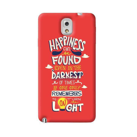 Dumbledore On Happiness Samsung Galaxy Note 3 Case