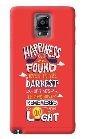 Dumbledore On Happiness Samsung Galaxy Note 4 Case