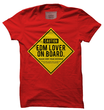 EDM Lover On Board T-Shirt