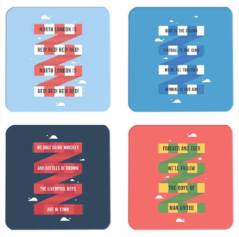 Football Fanatics Coasters