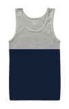 Grey and Blue Tank Top